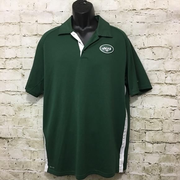 61497fb8 Nike Shirts   Ny Jets On Field Drifit Polo Size Large   Poshmark